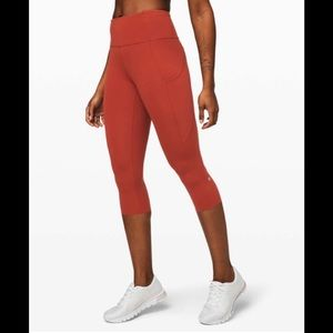 """Lululemon Fast and Free HR 19"""" Magma- Size 8"""